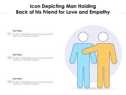 Icon Depicting Man Holding Back Of His Friend For Love And Empathy