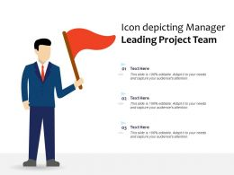 Icon Depicting Manager Leading Project Team