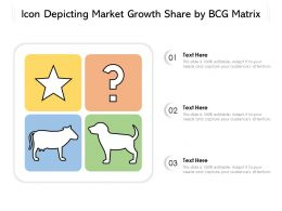 Icon Depicting Market Growth Share By BCG Matrix