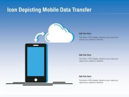 Icon Depicting Mobile Data Transfer