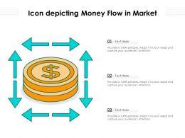 Icon Depicting Money Flow In Market