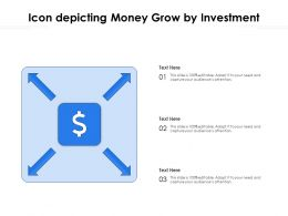 Icon Depicting Money Grow By Investment