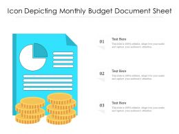 Icon Depicting Monthly Budget Document Sheet