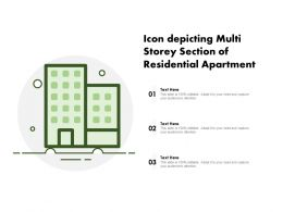Icon Depicting Multi Storey Section Of Residential Apartment