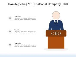 Icon Depicting Multinational Company CEO