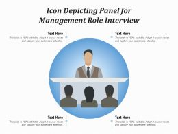 Icon Depicting Panel For Management Role Interview