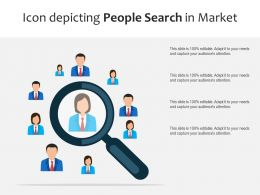 Icon Depicting People Search In Market
