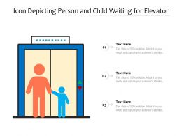 Icon Depicting Person And Child Waiting For Elevator