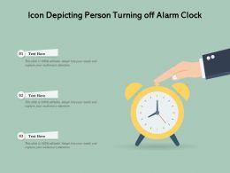 Icon Depicting Person Turning Off Alarm Clock