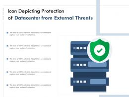 Icon Depicting Protection Of Datacenter From External Threats