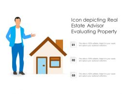 Icon Depicting Real Estate Advisor Evaluating Property