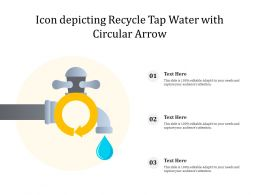Icon Depicting Recycle Tap Water With Circular Arrow