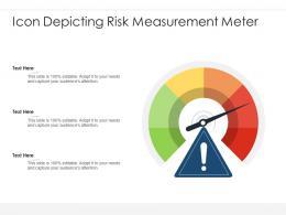 Icon Depicting Risk Measurement Meter