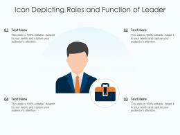 Icon Depicting Roles And Function Of Leader