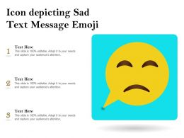 Icon Depicting Sad Text Message Emoji