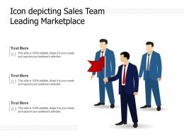 Icon Depicting Sales Team Leading Marketplace