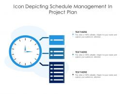 Icon Depicting Schedule Management In Project Plan