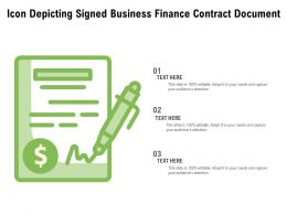Icon Depicting Signed Business Finance Contract Document