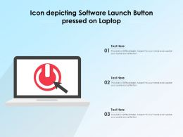 Icon Depicting Software Launch Button Pressed On Laptop