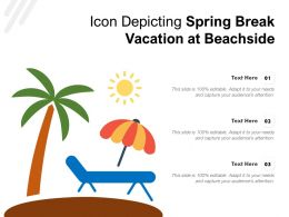 Icon Depicting Spring Break Vacation At Beachside