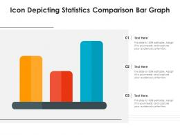 Icon Depicting Statistics Comparison Bar Graph