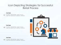 Icon Depicting Strategies For Successful Retail Process