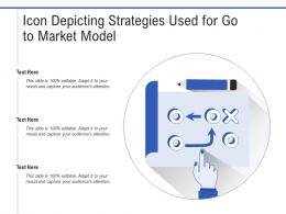 Icon Depicting Strategies Used For Go To Market Model