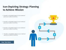 Icon Depicting Strategy Planning To Achieve Mission