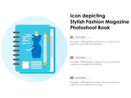Icon Depicting Stylish Fashion Magazine Photoshoot Book