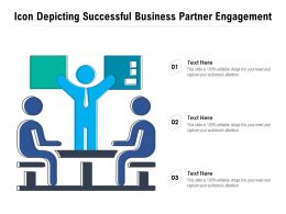 Icon Depicting Successful Business Partner Engagement
