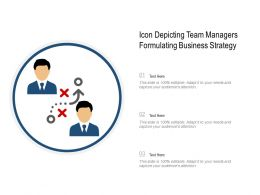 Icon Depicting Team Managers Formulating Business Strategy