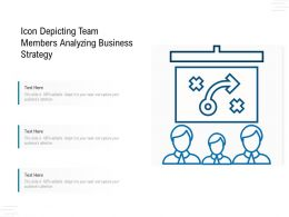 Icon Depicting Team Members Analyzing Business Strategy