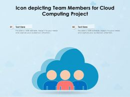 Icon Depicting Team Members For Cloud Computing Project