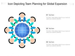 Icon Depicting Team Planning For Global Expansion