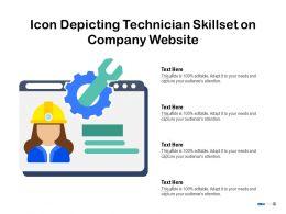 Icon Depicting Technician Skillset On Company Website