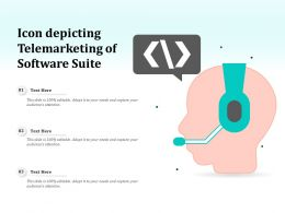 Icon Depicting Telemarketing Of Software Suite