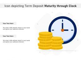 Icon Depicting Term Deposit Maturity Through Clock