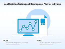 Icon Depicting Training And Development Plan For Individual