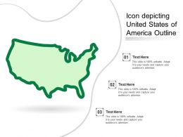 Icon Depicting United States Of America Outline