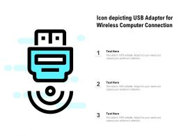 Icon Depicting Usb Adaptor For Wireless Computer Connection