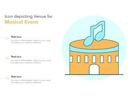 Icon Depicting Venue For Musical Event