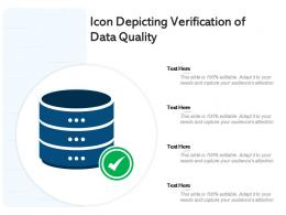Icon Depicting Verification Of Data Quality