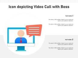 Icon Depicting Video Call With Boss