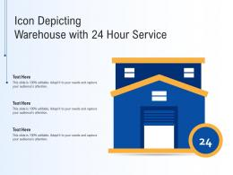 Icon Depicting Warehouse With 24 Hour Service