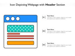 Icon Depicting Webpage With Header Section