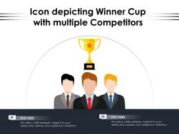 Icon Depicting Winner Cup With Multiple Competitors