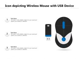 Icon Depicting Wireless Mouse With USB Device