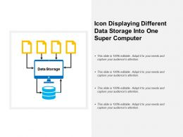 Icon Displaying Different Data Storage Into One Super Computer