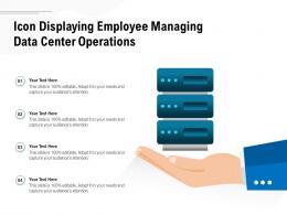 Icon Displaying Employee Managing Data Center Operations