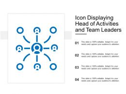 Icon Displaying Head Of Activities And Team Leaders